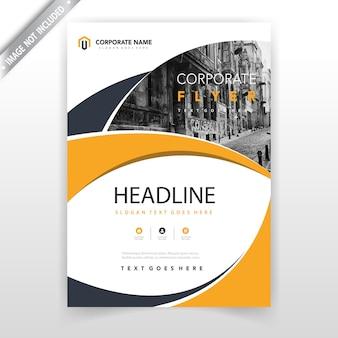 Leaflet cover design template