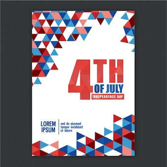Leaflet template with geometric shapes for independence day
