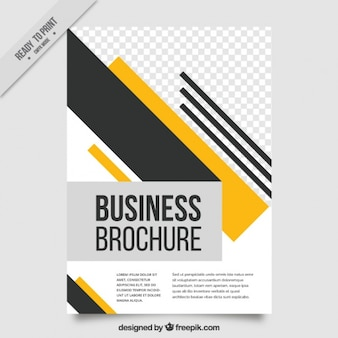 Leaflet template with geometric shapes