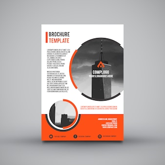 Leaflet template with orange sections