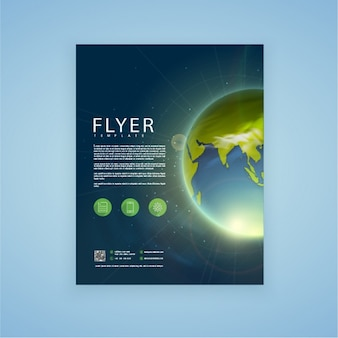 Leaflet template with shiny planet earth
