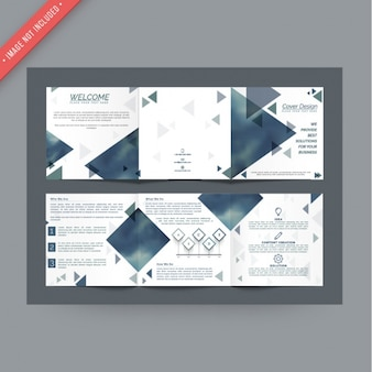 Leaflet template with triangles
