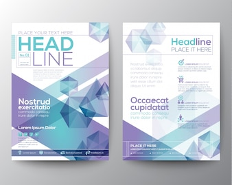 Leaflet with bright polygonal shapes