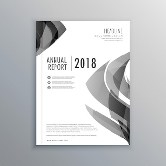 Leaflet with gray abstract shapes