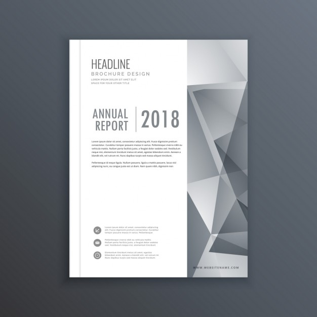 Leaflet with gray geometric shapes