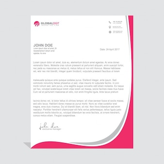 Leaflet with pink wavy shapes