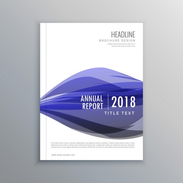 Leaflet with purple wavy shapes