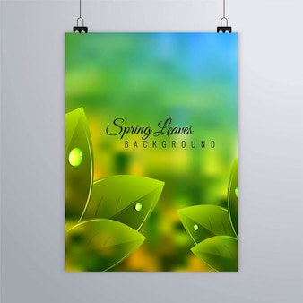 Leaflet with realistic leaves