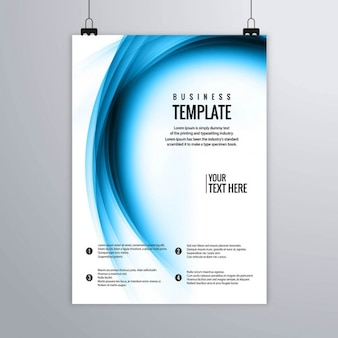 Leaflet with wavy fuzzy shapes