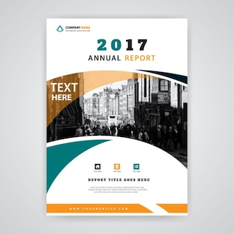 Leaflet with wavy shapes