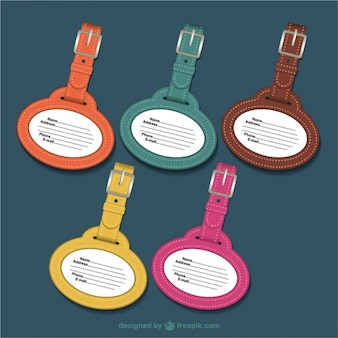 Leather tags in different colors