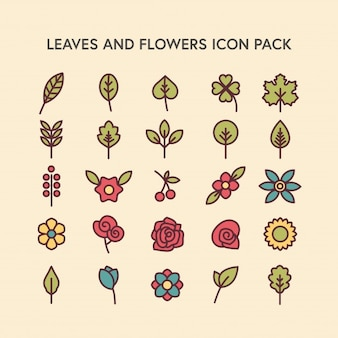 Leaves and Flowers - Icon Pack
