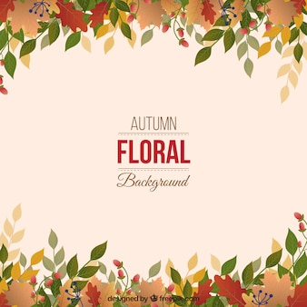 Leaves background in autumnal style