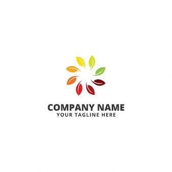 Leaves circle logo