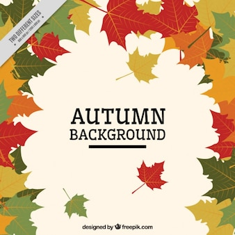 Leaves in flat style background