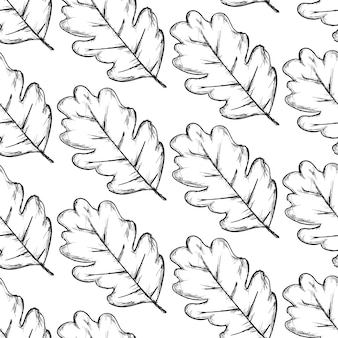 Leaves pattern on white background