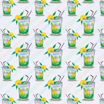 Lemon juice pattern background