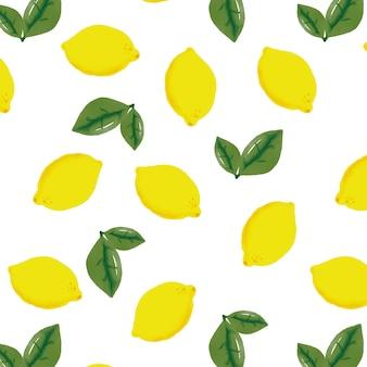 Lemon pattern background