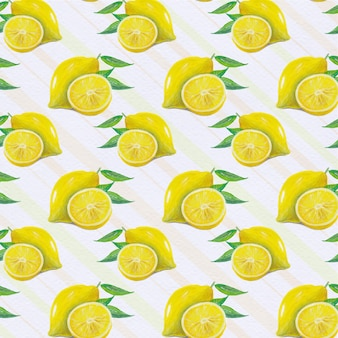 レモンのパターンの背景