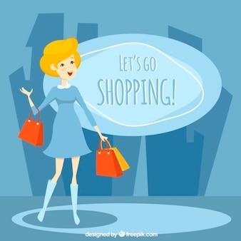 Let's go shopping, illustration