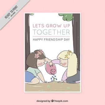 Let's grow together, happy friendship day