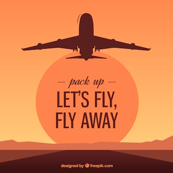 Let's fly, fly away
