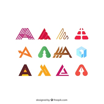 Letter a logo collection