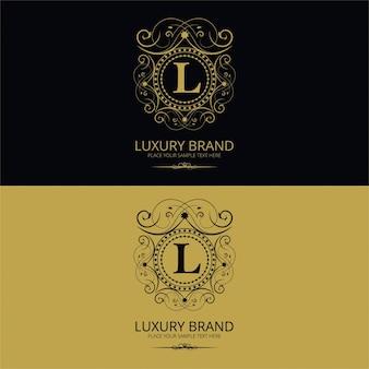 Letter l luxury brand logo