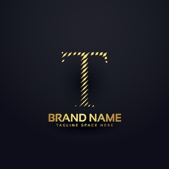Letter t logo concept in abstract style