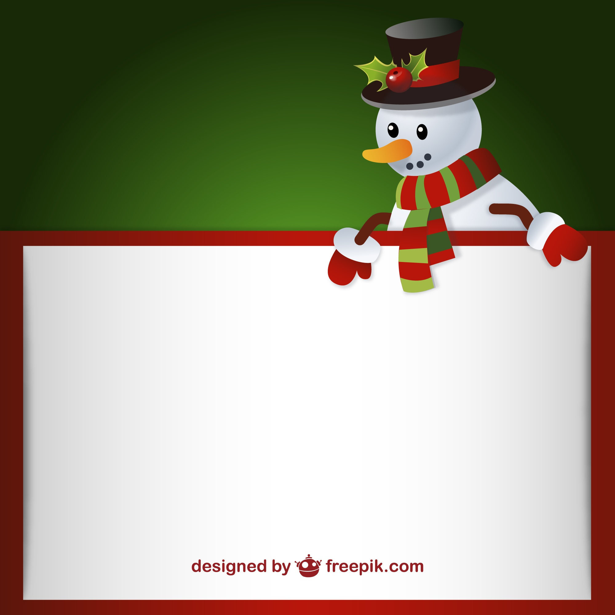 Letter template with snowman
