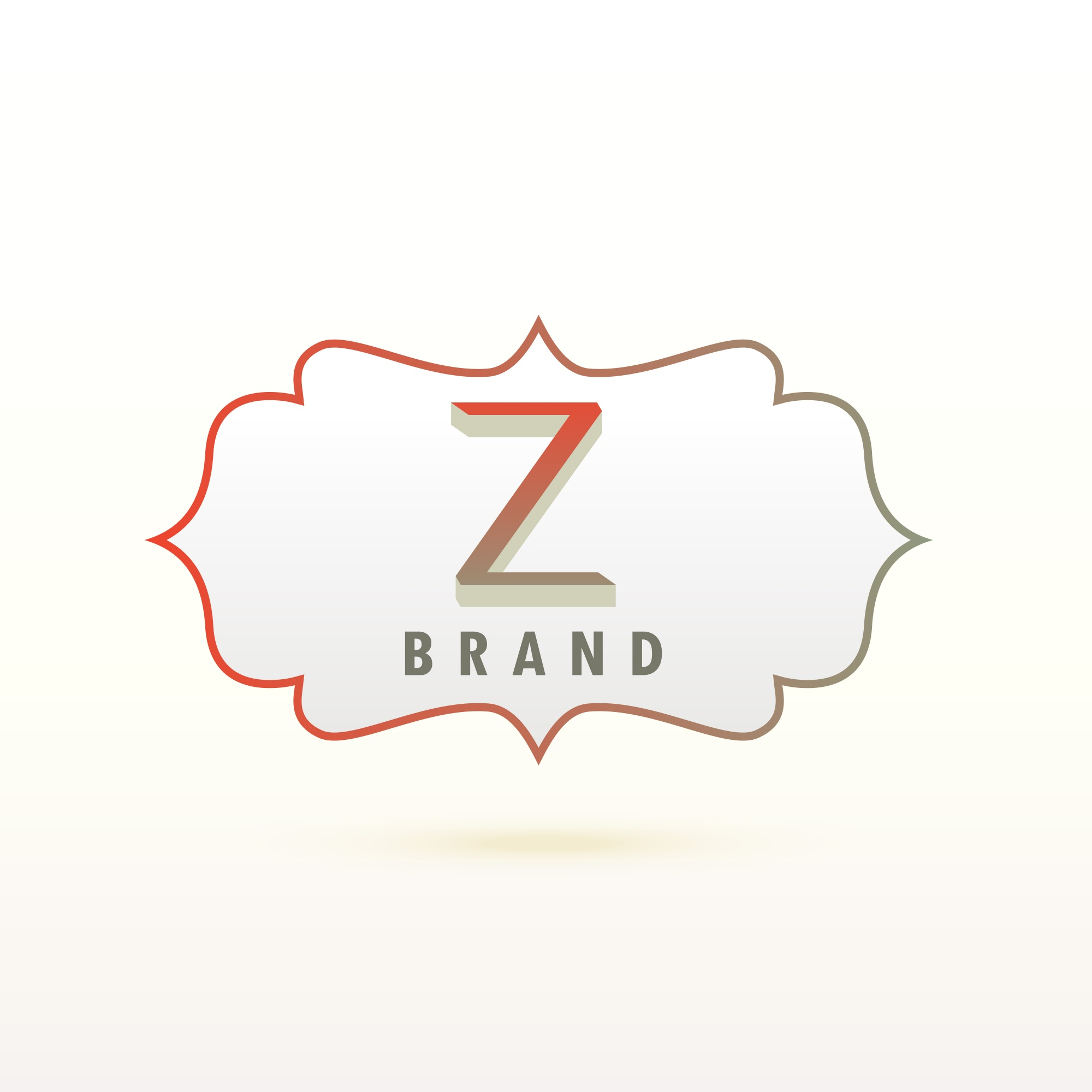 Letter z logo with ornamental frame
