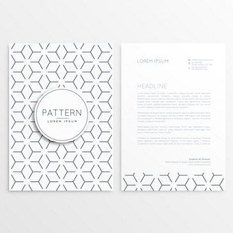 Letterhead template with abstract lines