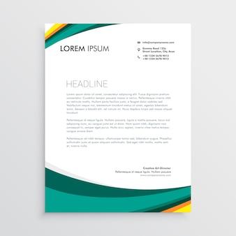 緑色のビジュアルアイデンティティレターヘッドデザインテンプレート