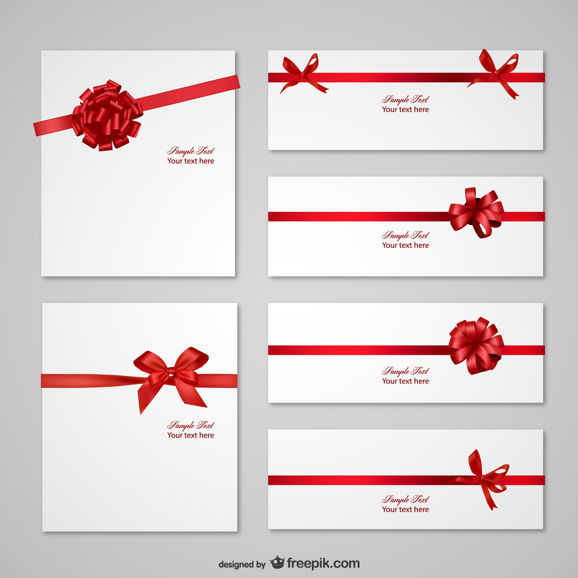 Letters with red ribbon templates