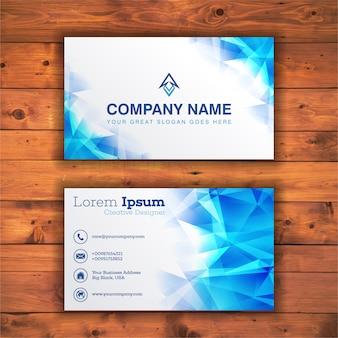 Light blue business card template