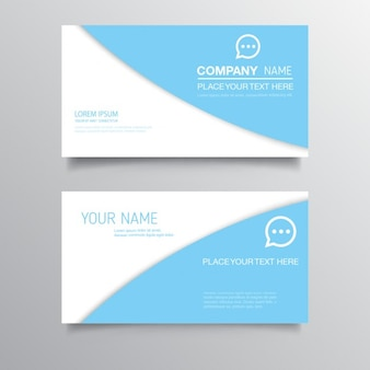 Light blue business cards