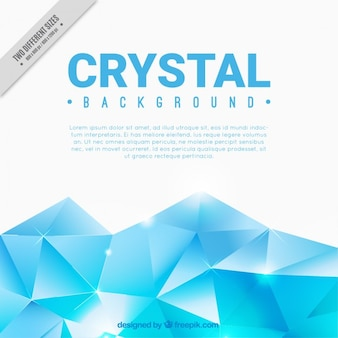 Light blue crystal background