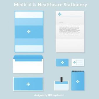 Light blue medical stationery