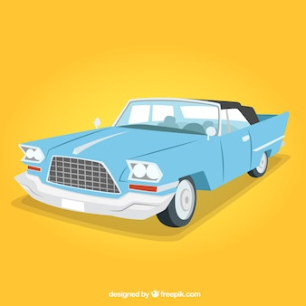 Light blue retro car