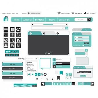 Light Blue Website Design Elements