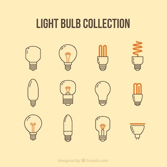 Light bulb icons collection