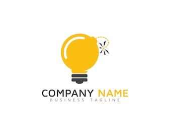 Light bulb logo design