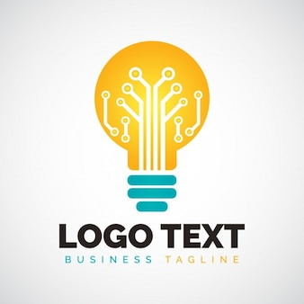Light bulb shape logo