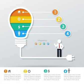 Light bulb with four phases of colors