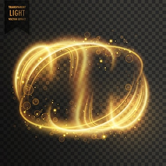 Light effect with abstract shapes