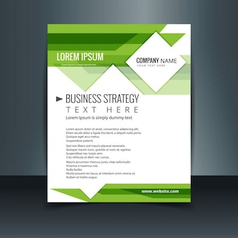 Light green business brochure
