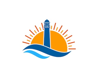 Light house logo design