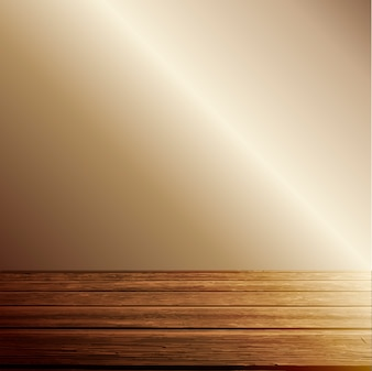 Light on wooden floor background
