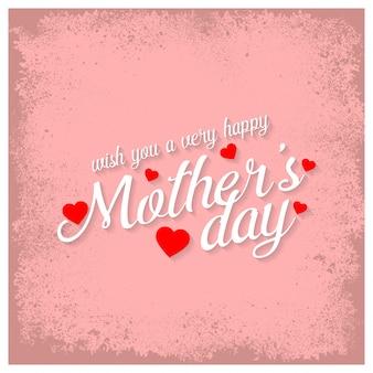 Light pink mother's day lettering illustration