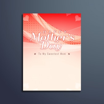 Light red mother's day brochure